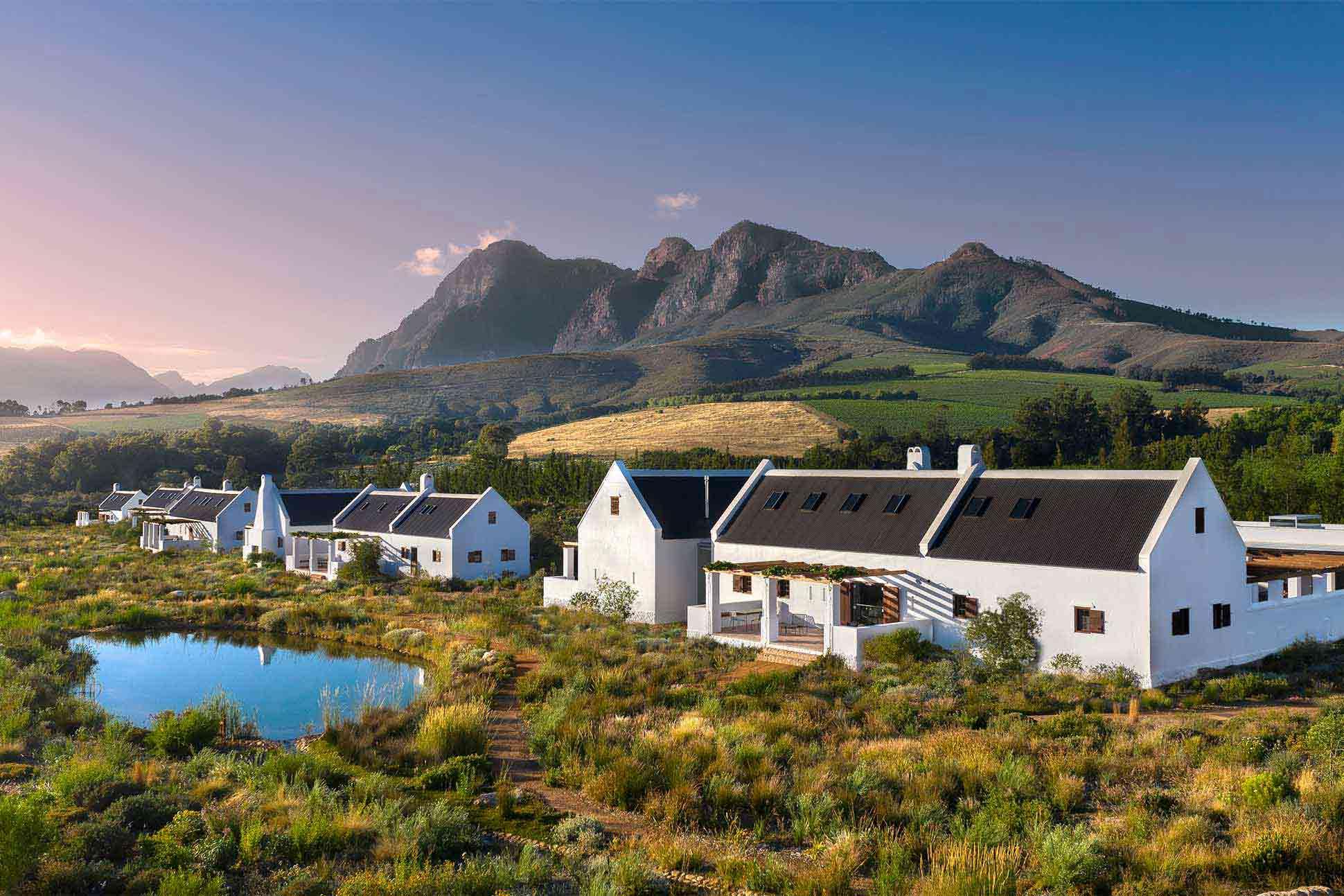 Exterior view of Fynbos Family House, Babylonstoren, South Africa