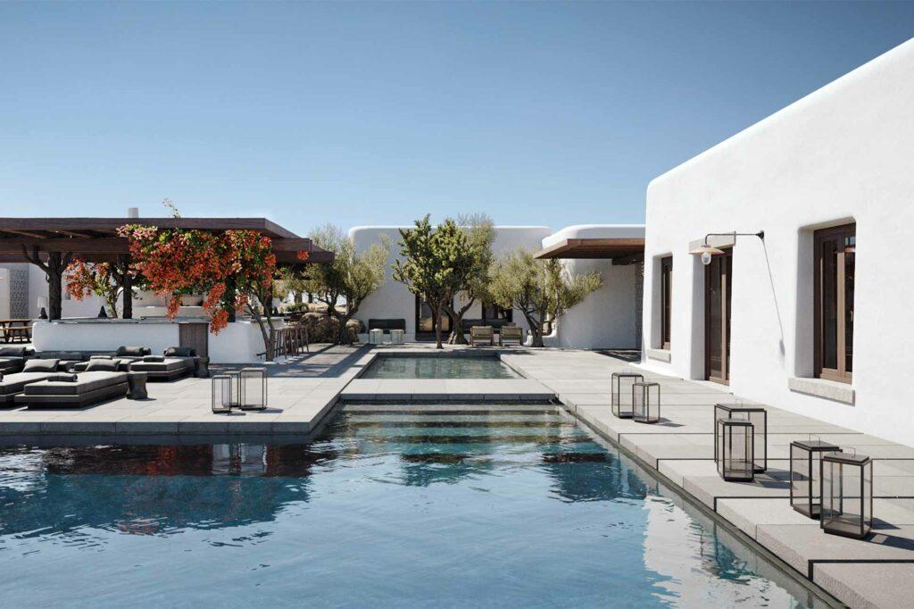 Pool at Kalesma, Mykonos, Greece