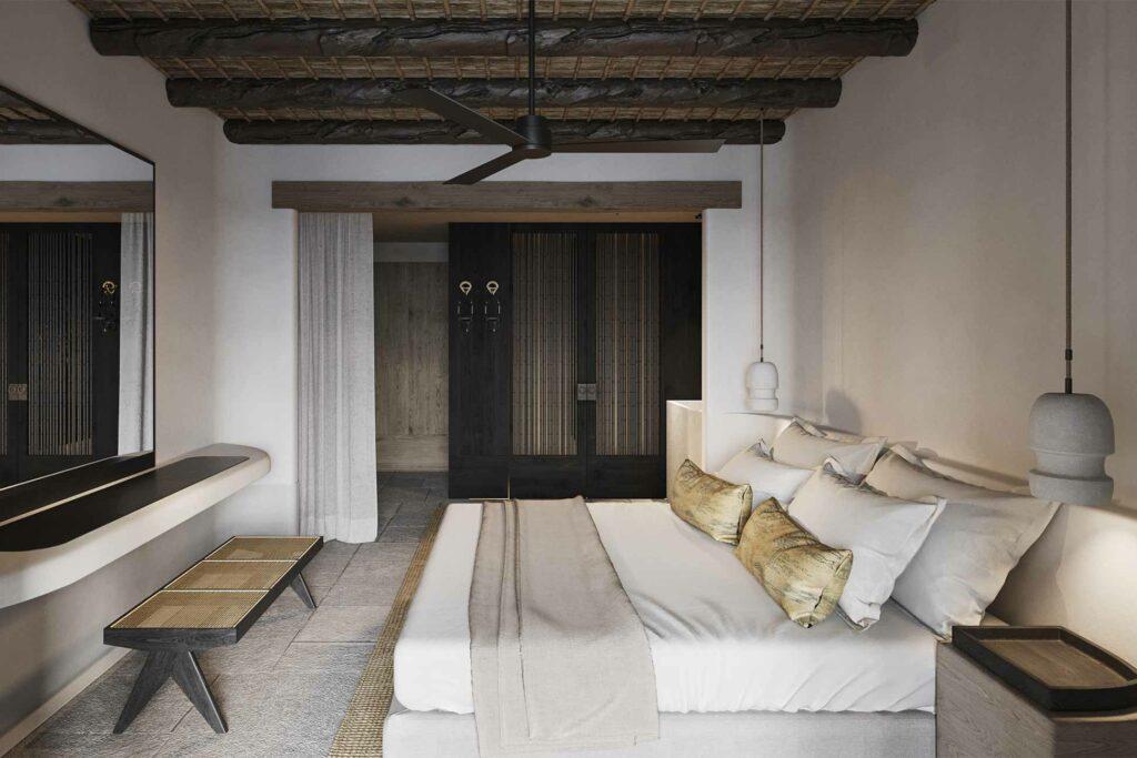 Bedroom at Kalesma, Mykonos, Greece