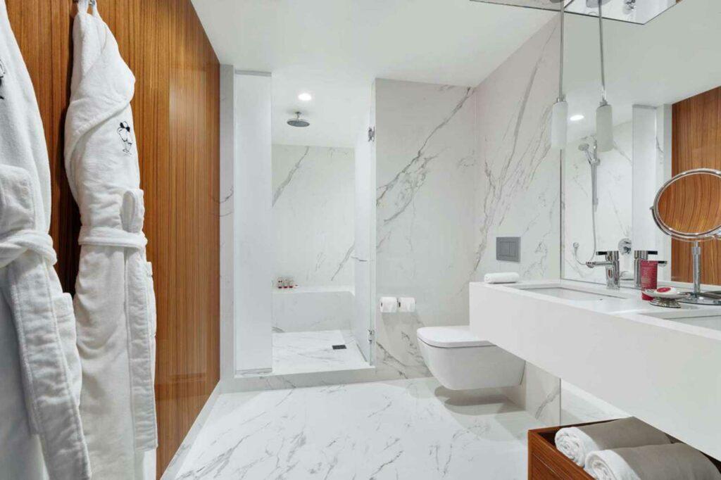 Mr C Seaport New York City NYC bathroom