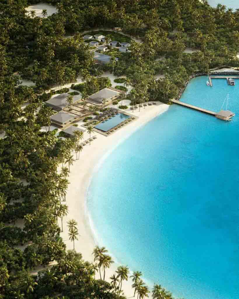 Aerial view of Patina Maldives, Fari Islands