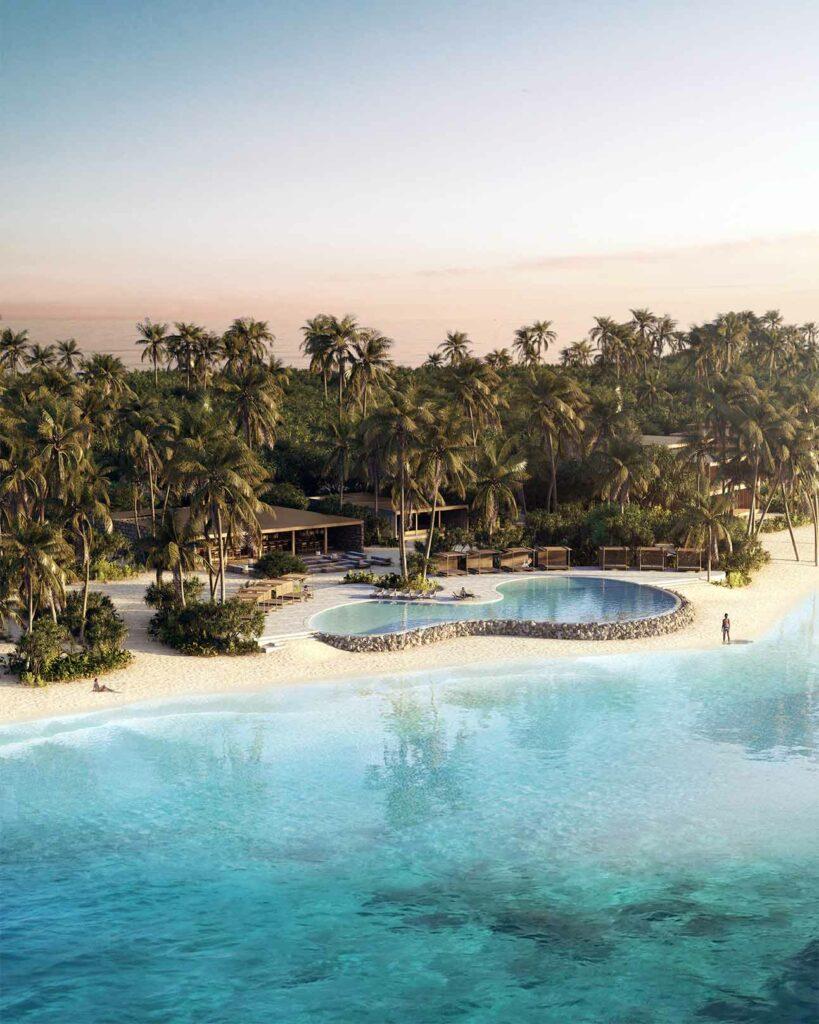 Beachside pool at Patina Maldives, Fari Islands