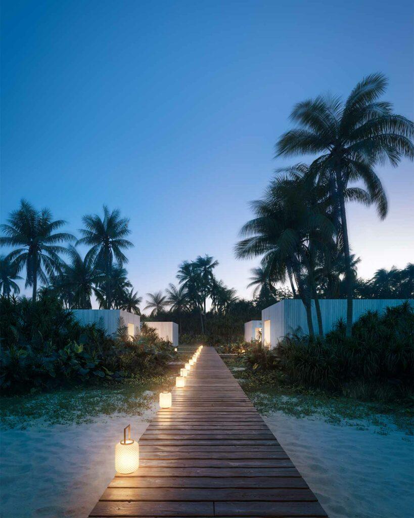 Night falls over Patina Maldives, Fari Islands