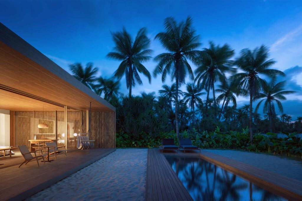 Beachside villa at Patina Maldives