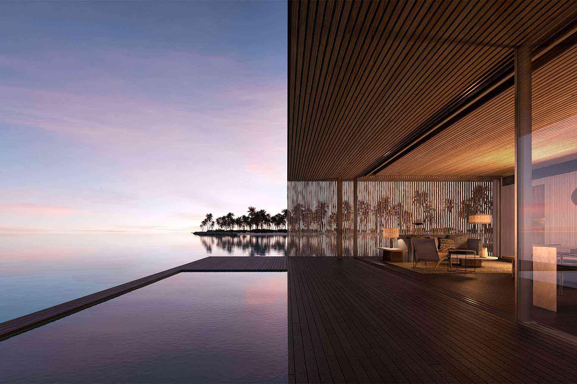 Ocean view suite at Patina Maldives in the Fari Islands