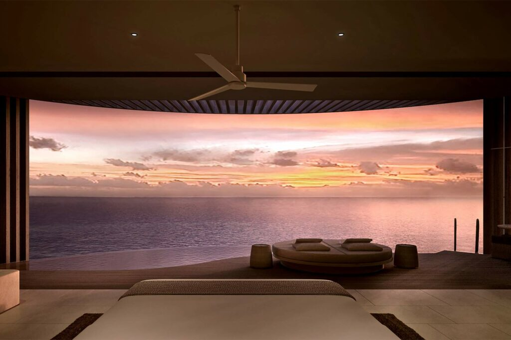 View from the Ocean Pool Villa at The Ritz-Carlton Fari Islands, Maldives