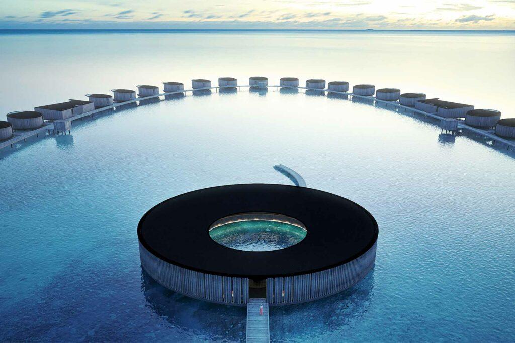 Overwater villas at The Ritz-Carlton Fari Islands, Maldives