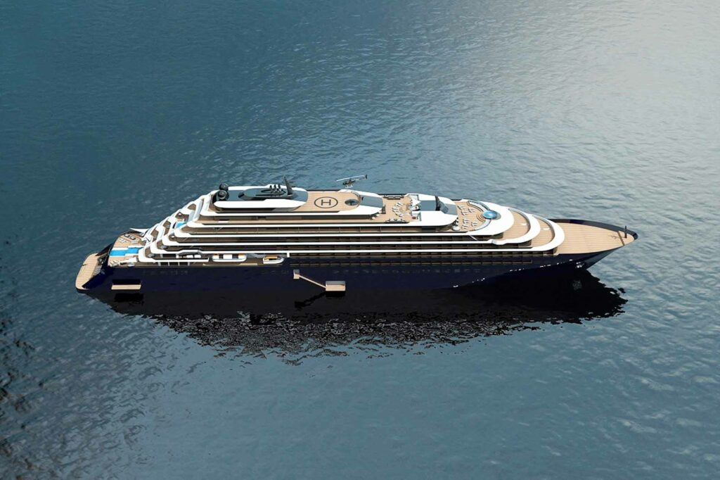The Ritz-Carlton Yacht Collection drone render