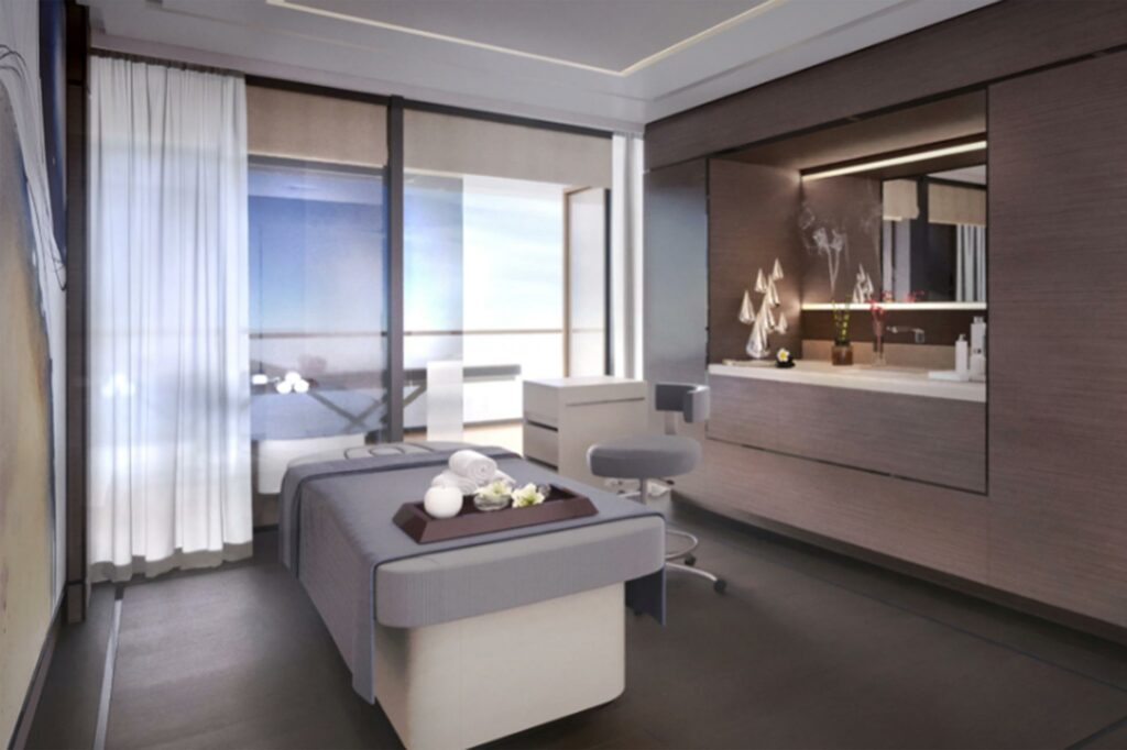 The Ritz-Carlton Yacht Collection spa render