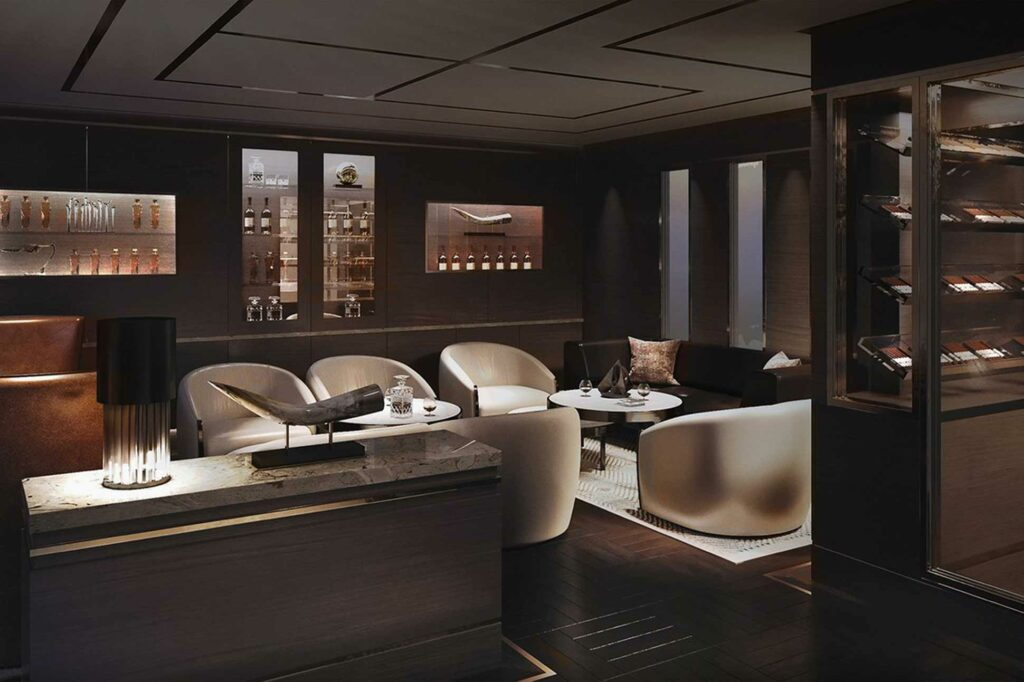 The Ritz-Carlton Yacht Collection lounge render