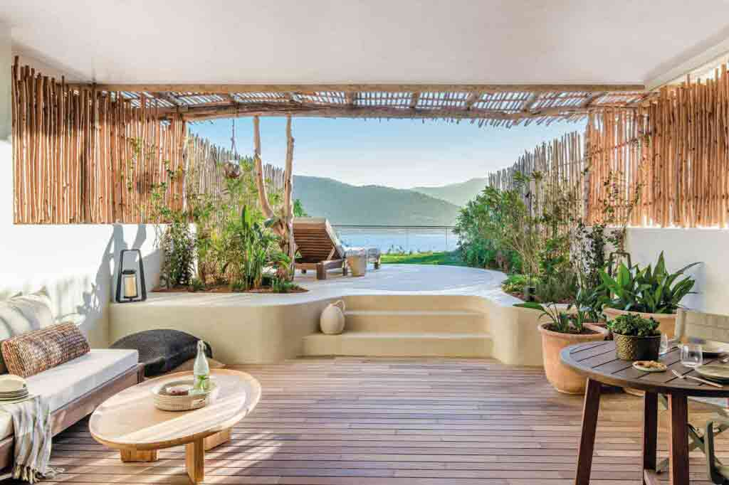 Bay-view room at Six Senses Ibiza, Spain