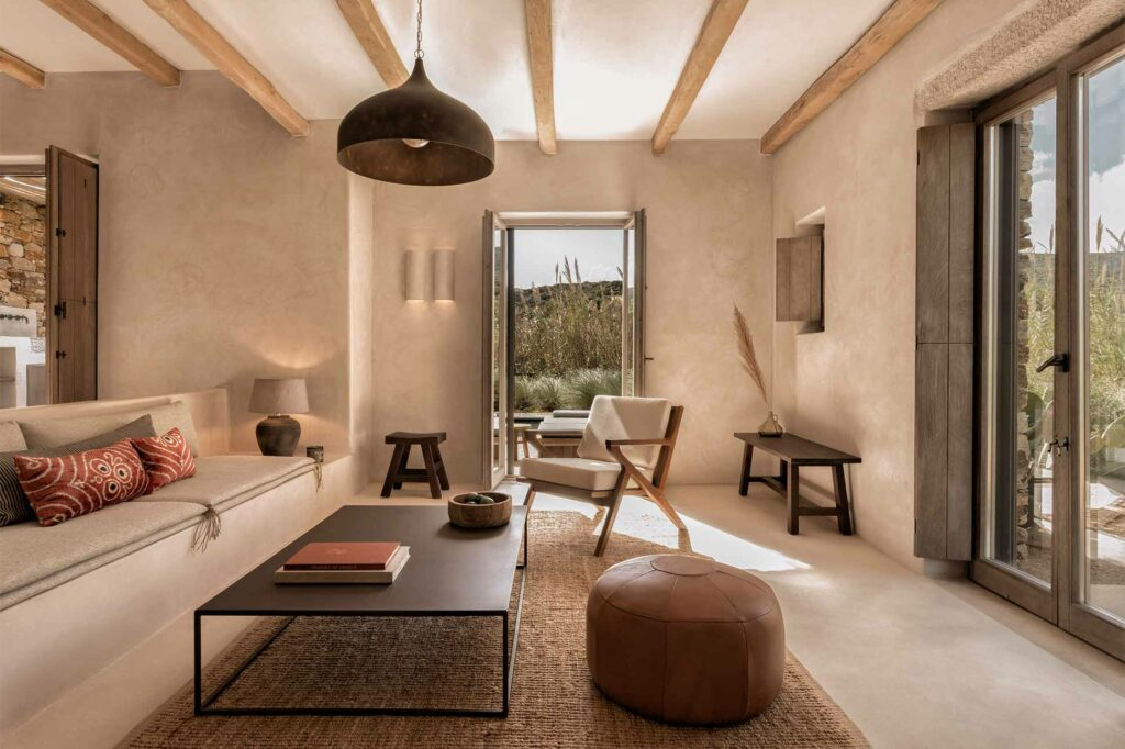 A room at The Rooster, Antiparos, Greece
