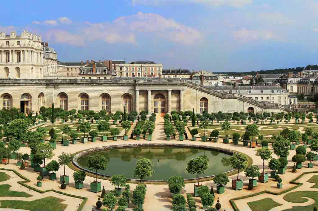 View over the Orangerie at Versailles