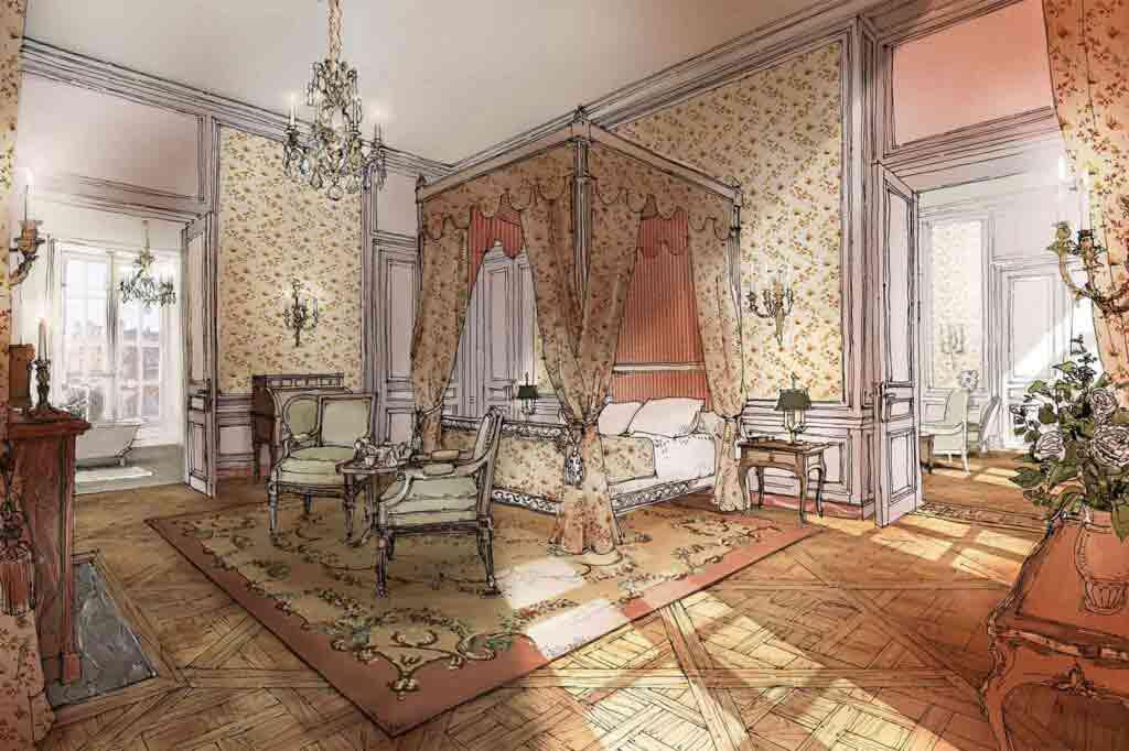 The Suite Necker at Airelles Château de Versailles, Le Grand Contrôle, France