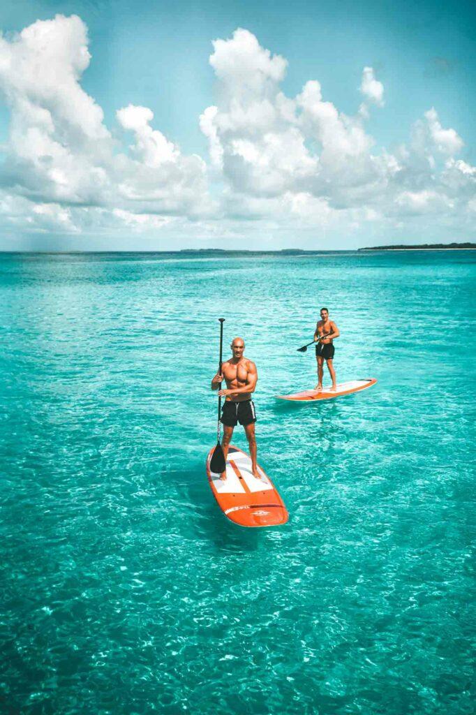 Paddleboarding at Soneva Maldives