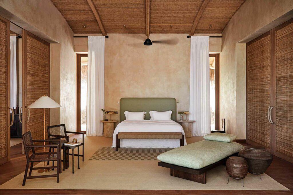 Bedroom at Kisawa Sanctuary, Benguerra Island, Mozambique