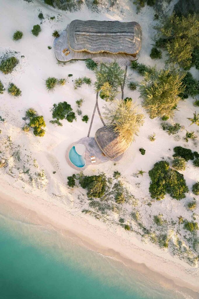 Kisawa Sanctuary, Benguerra Island, Mozambique aerial