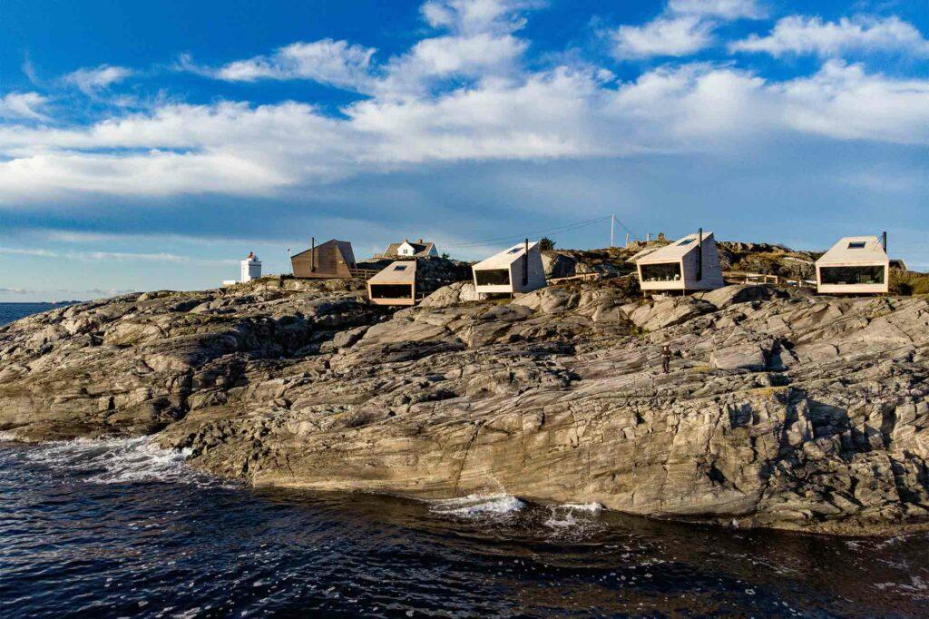 Exterior of Flokehyttene, Norway designer cabins