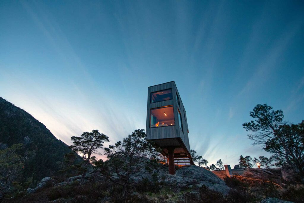 Exterior of The Bolder Sky Lodges, Forsand, Norway