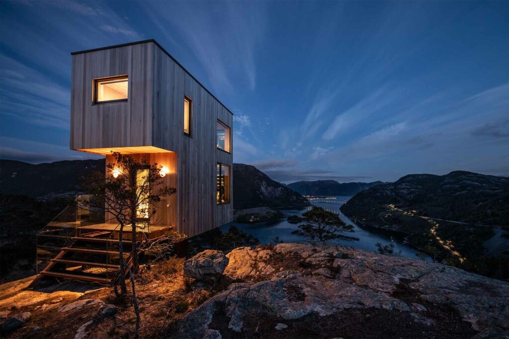 The view from The Bolder Sky Lodges, Forsand, Norway