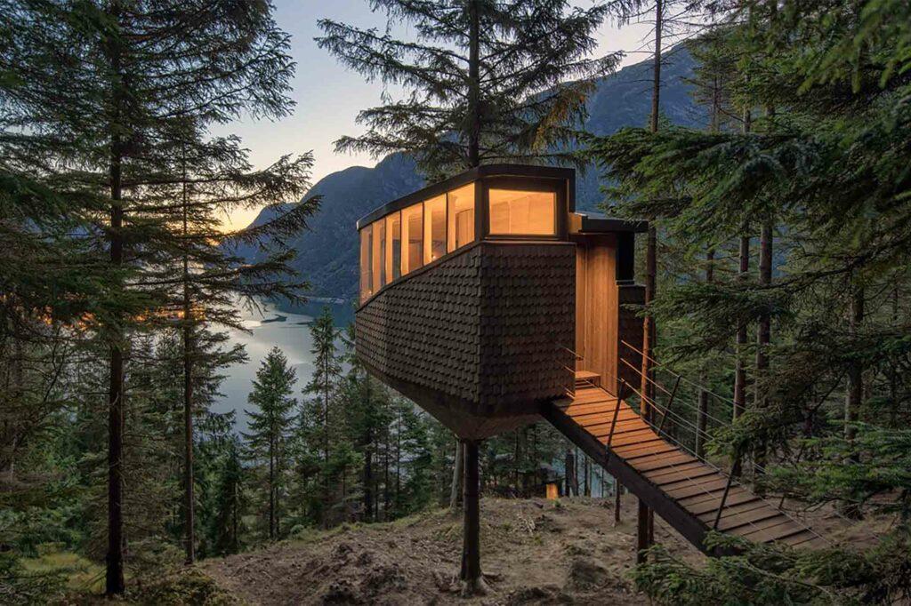 Exterior of Woodnest, Odda, Norway