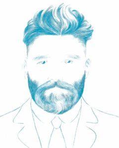 Facial hear illustration