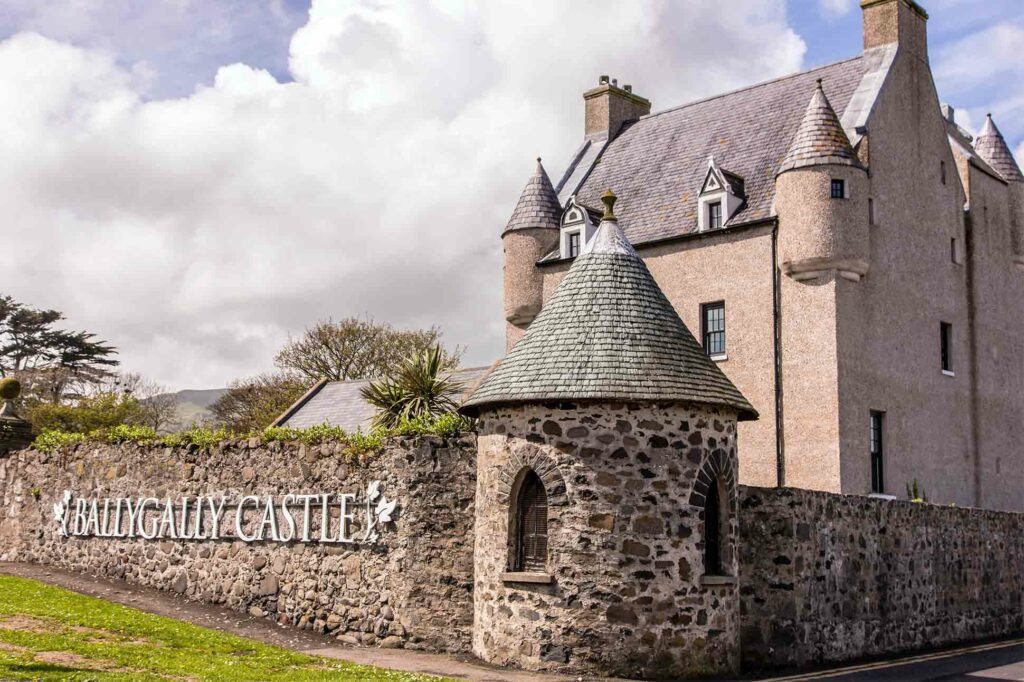 Close-up of Ballygally Castle Hotel, Northern Ireland