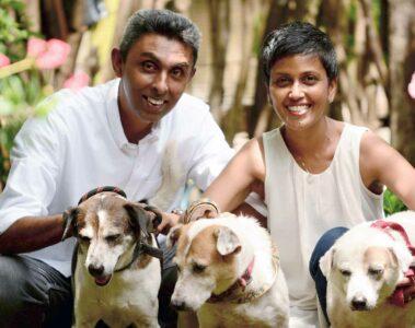 Portrait of Camintha and Rajindra Jayasinghe, Ayu in the Wild, Colombo, Sri Lanka