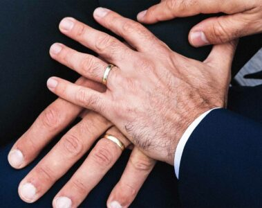 Gay couple gets married, a result of marriage equality