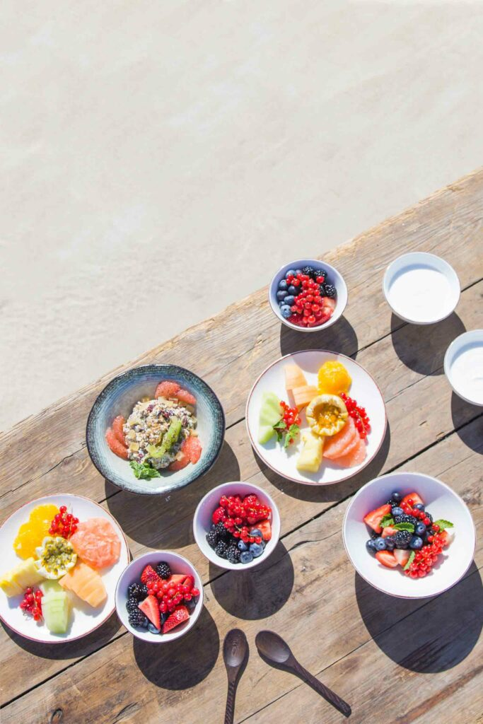 Vegan meal at Jumby Bay Island, Antigua