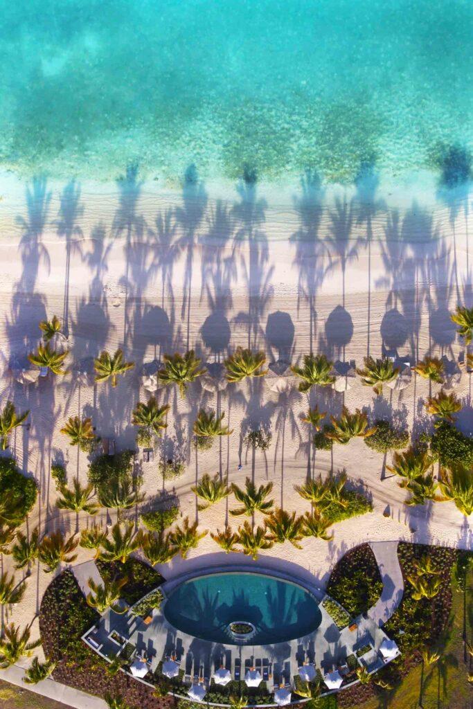 Beachside pool at Jumby Bay Island, Antigua