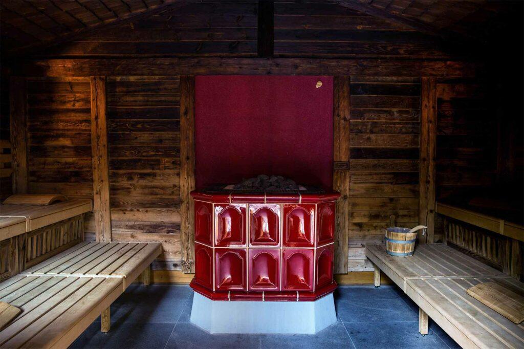 Sauna at Le Grand Bellevue, Gstaad, Switzerland