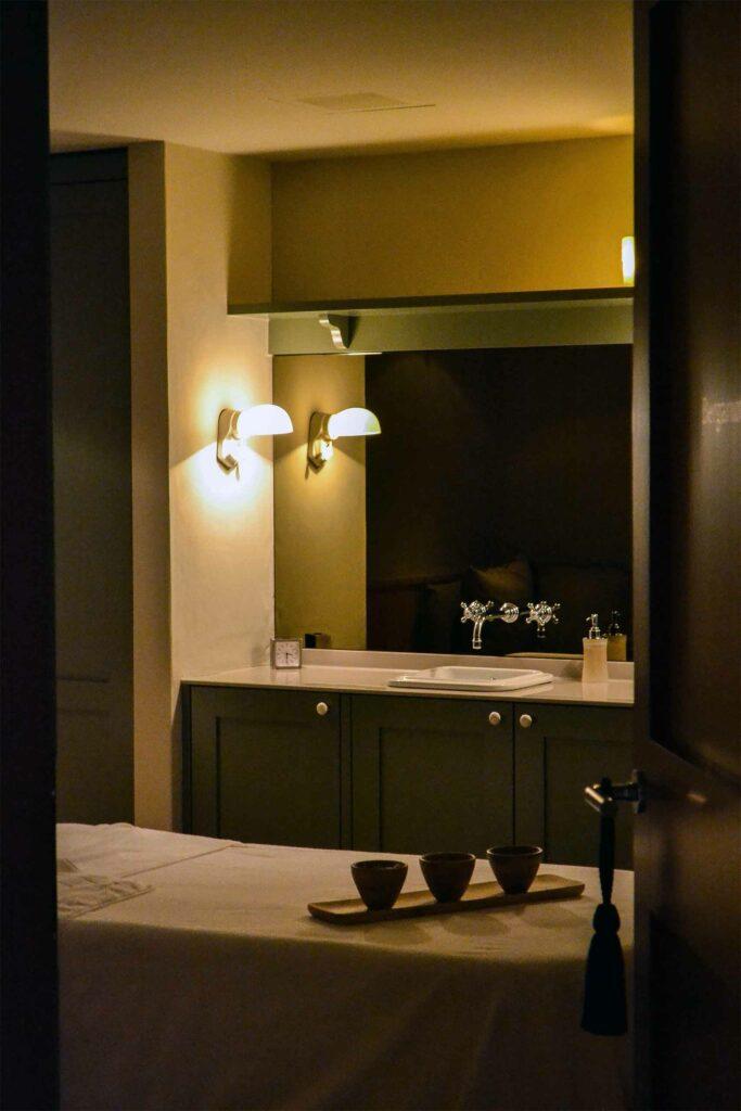 Massage room at Le Grand Bellevue, Gstaad, Switzerland