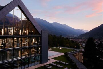 Exterior view of Lefay Resort and SPA Dolomiti, Trentino, Italy