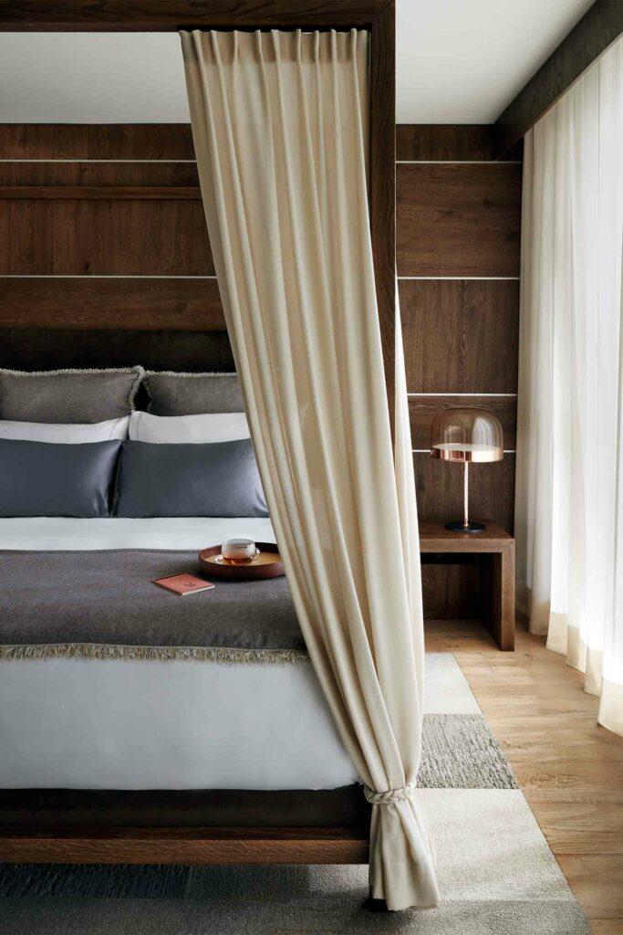 Bedroom at Lefay Resort and SPA Dolomiti, Trentino, Italy