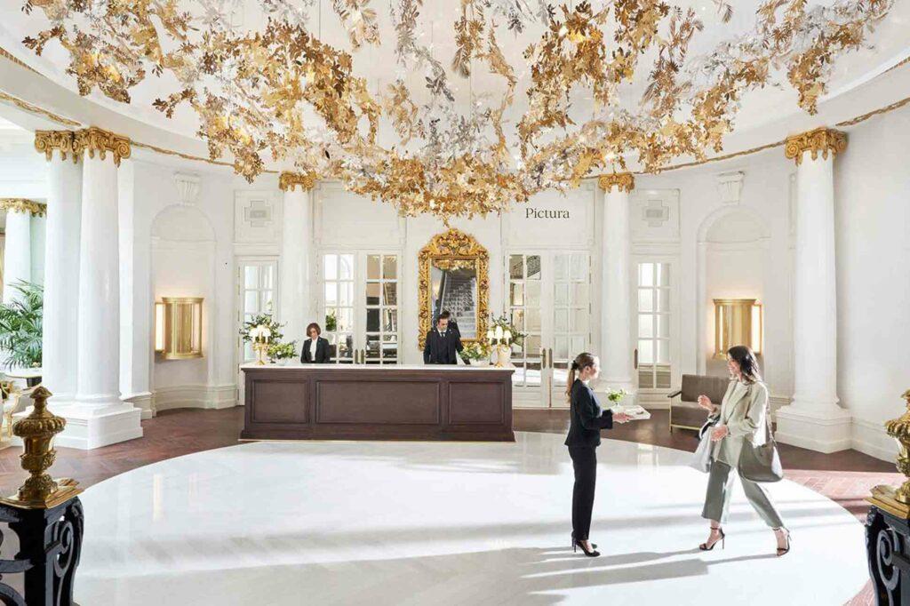 Mandarin Oriental Ritz Madrid lobby reception