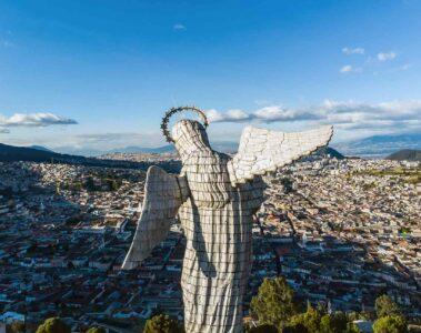 Statue overlooking Quito, Ecuador