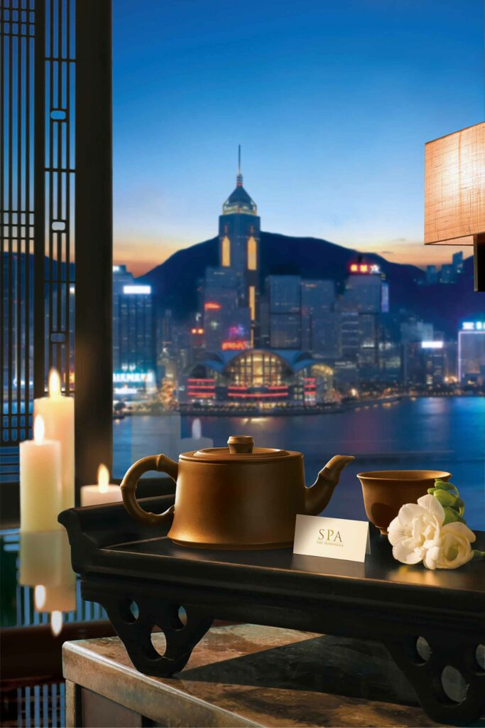Tea with views over Victoria Harbour
