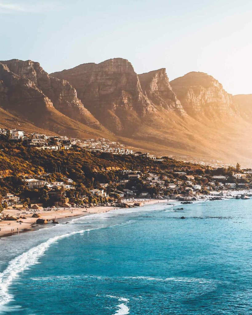 The coast of Cape Town, South Africa