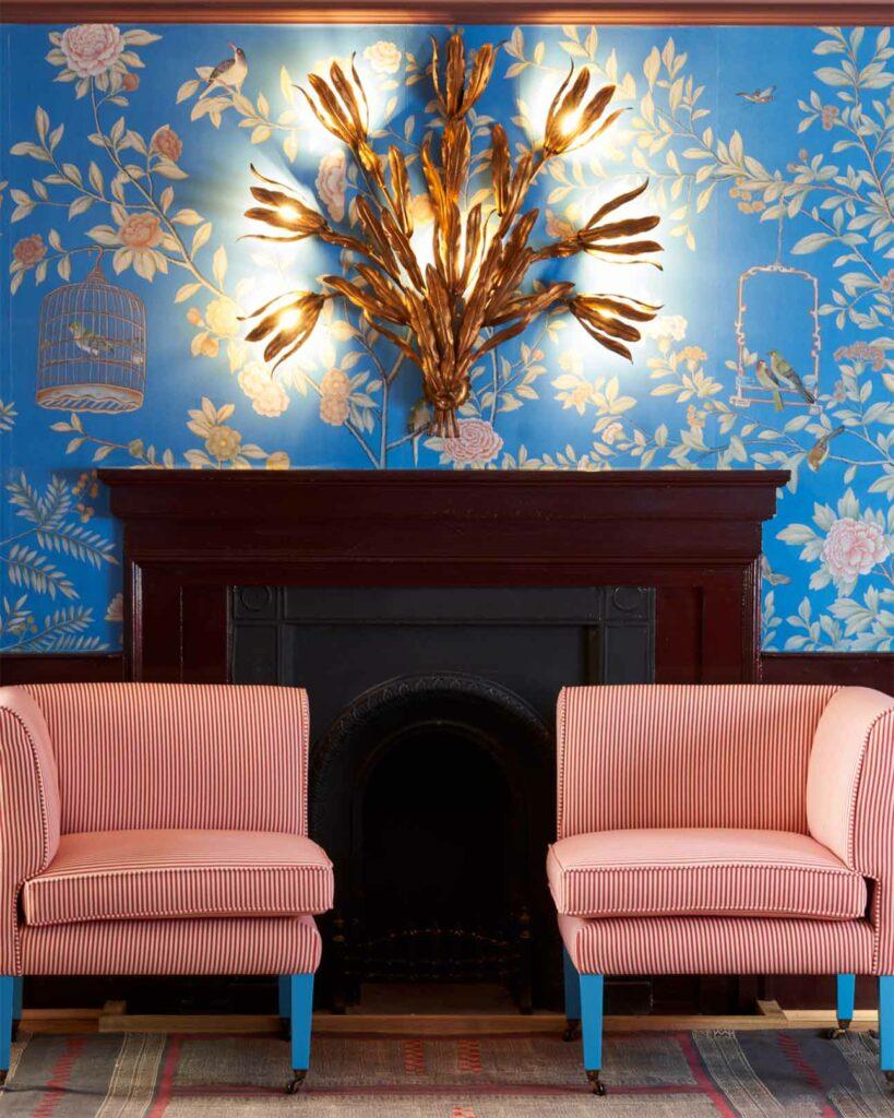 Interior design detail at The Mitre Hotel, London, United Kingdom