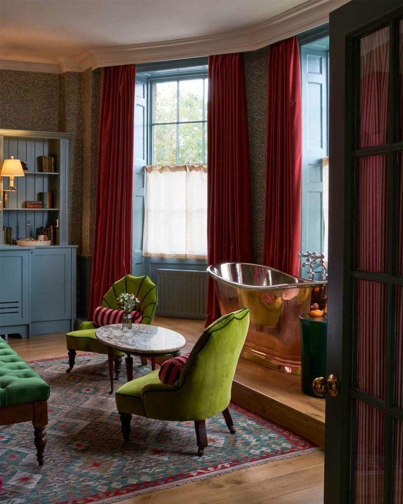 Bathtub at The Mitre Hotel, London, United Kingdom