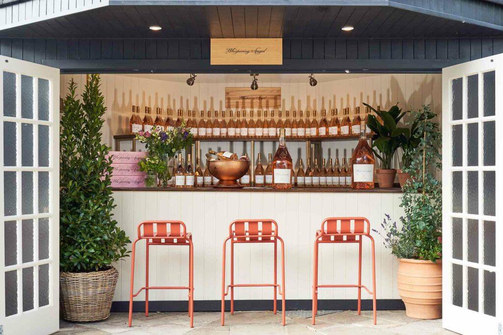 Champagne bar at The Mitre Hotel, London, United Kingdom