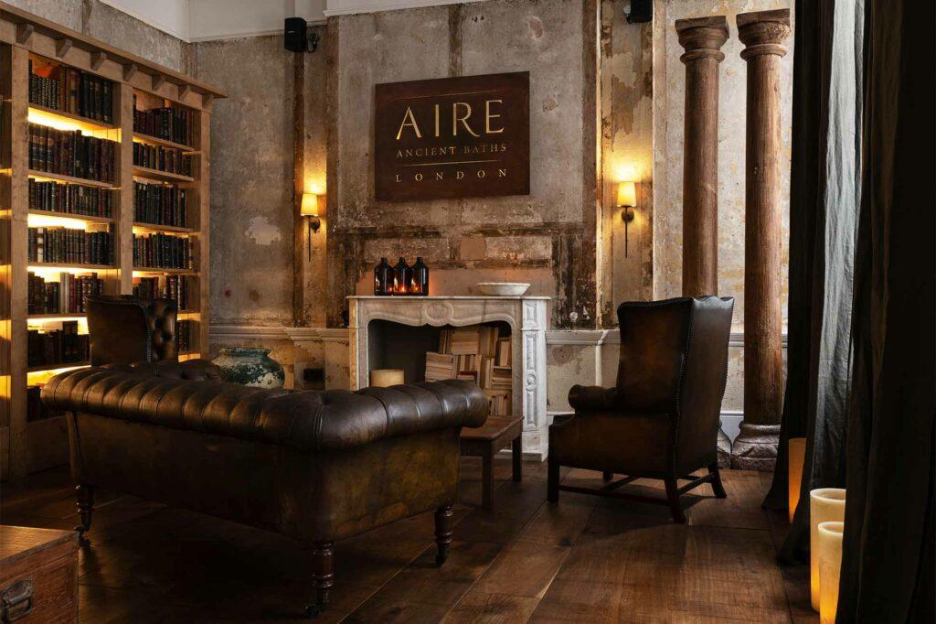 Entrance area at AIRE Ancient Baths London, UK