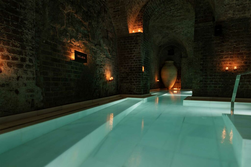 A pool at AIRE Ancient Baths London, UK