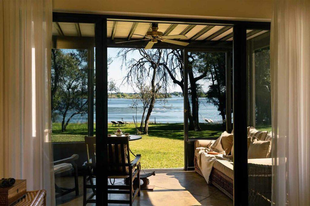 Bedroom at the Anantara Royal Livingstone Hotel, Zambia