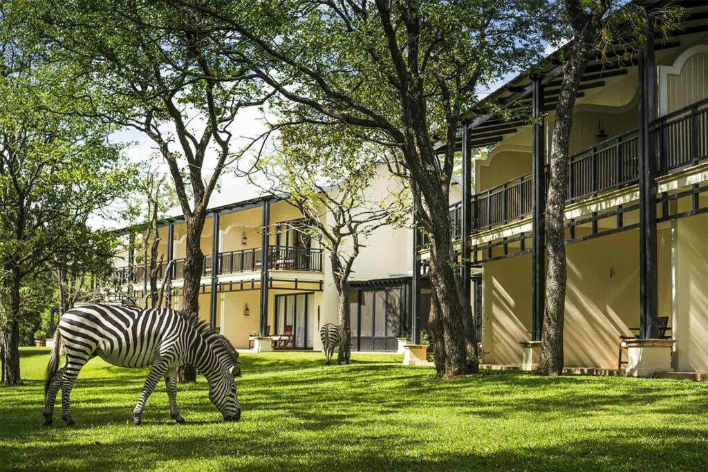 Exterior of the Anantara Royal Livingstone Hotel, Zambia