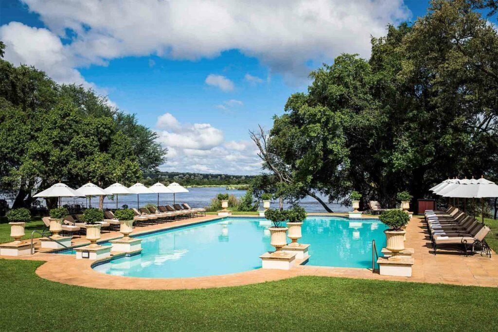 Pool at the Anantara Royal Livingstone Hotel, Zambia