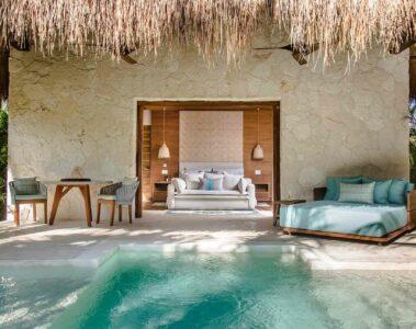Pool villa at Chablé Maroma, part of Chablé Hotels
