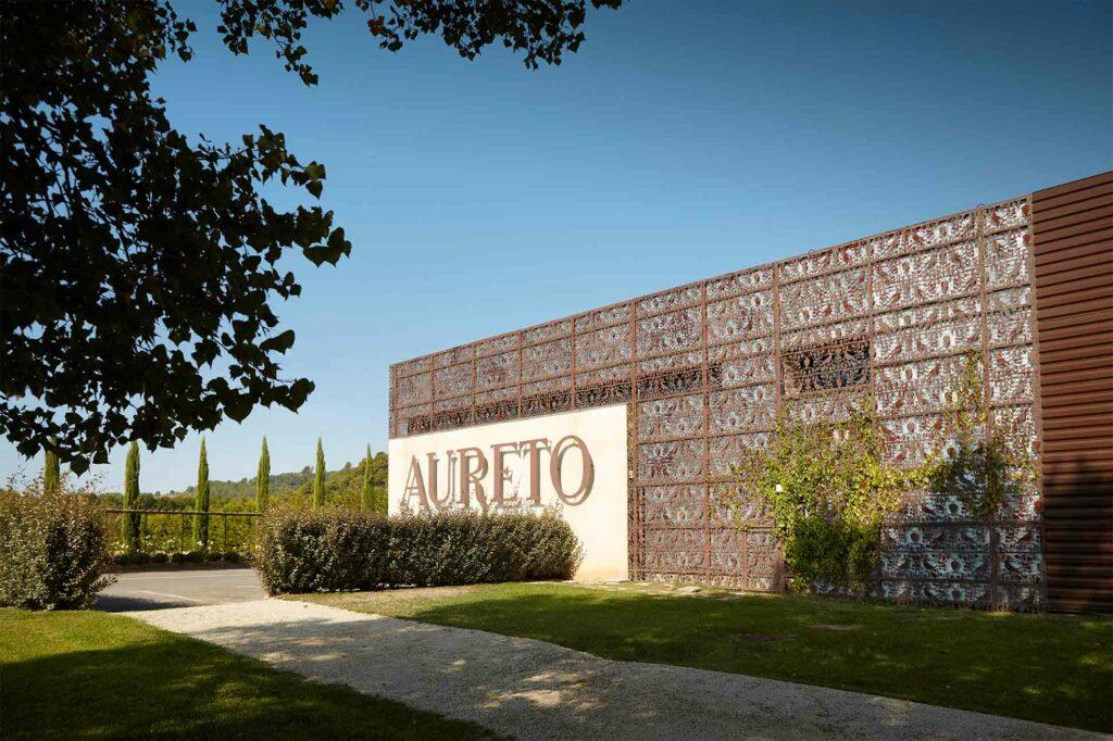 Aureto vineyard in southern France