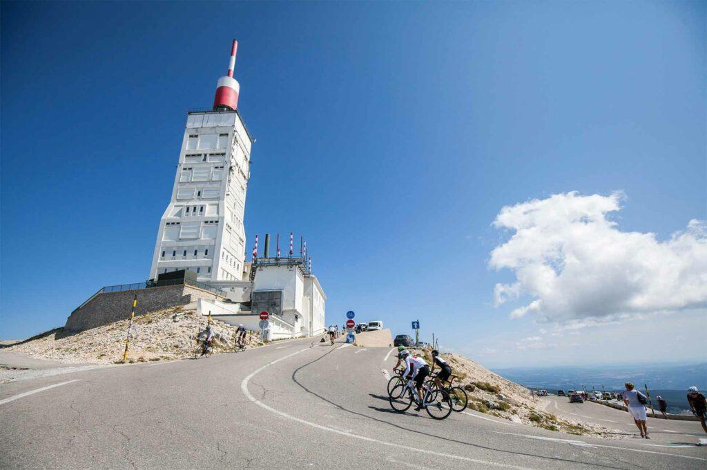Ascending Mont Ventoux by bike, France